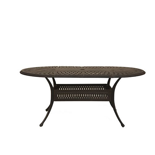 ONSIGHT Ophelia 42-inch x 87-inch Oval Patio Table