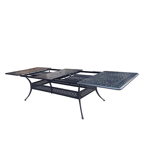 """Panacea Table de salle à manger rectangulaire de 48 """"par 132"""" avec l'extension"""