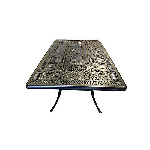 """Panacea Table de salle à manger rectangulaire 44"""" par 84"""""""