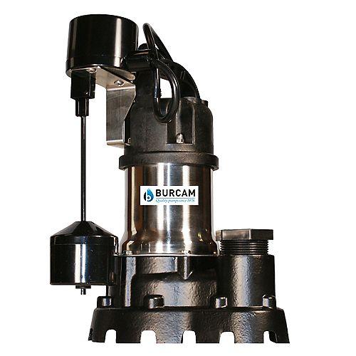 BURCAM 1 HP submersible effluent pump