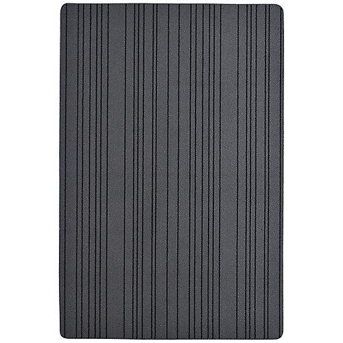 Paillasson rectangulaire Skylar, 4pi x 6pi, gris