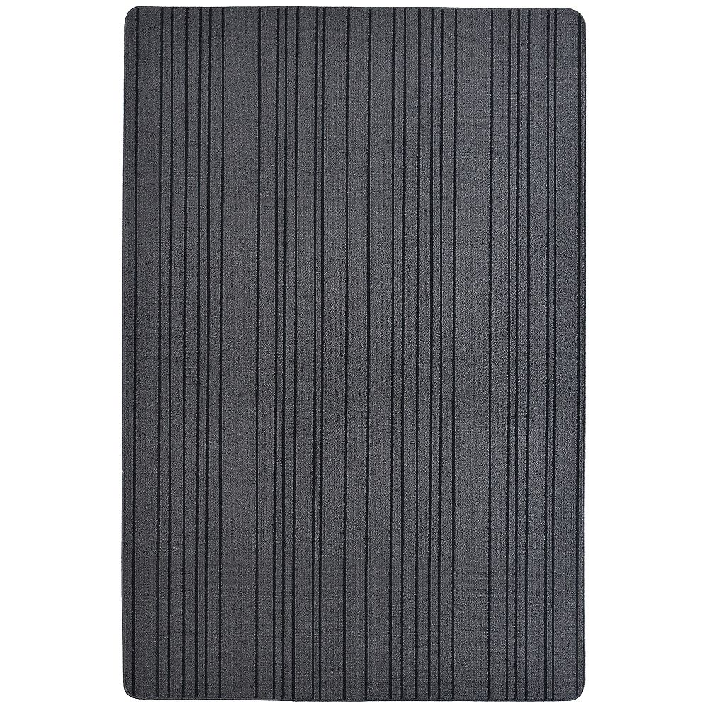 Lanart Rug Paillasson rectangulaire Skylar, 4pi x 6pi, gris