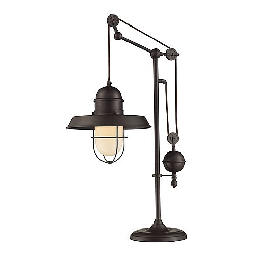Lampe de table Farmhouse au fini bronze huilé