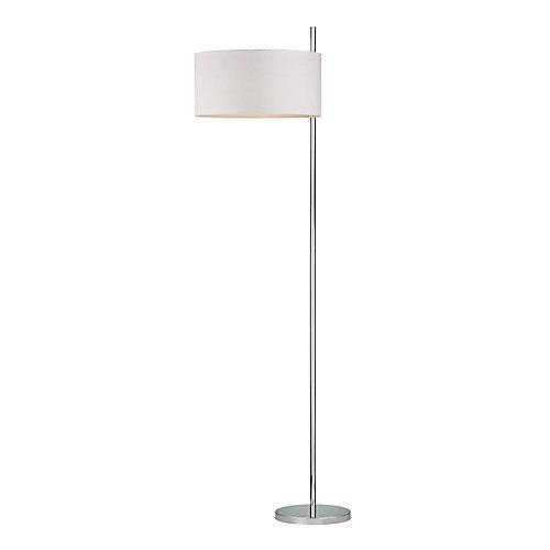 Attwood Polished Nickel Floor Lamp