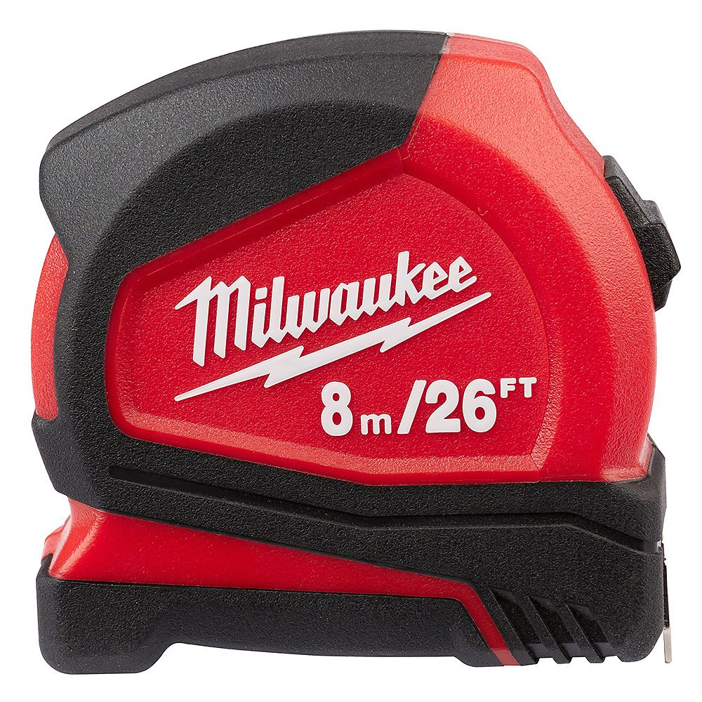 Milwaukee Tool 8 m/26 ft. Compact Tape Measure with 12 ft. Reach