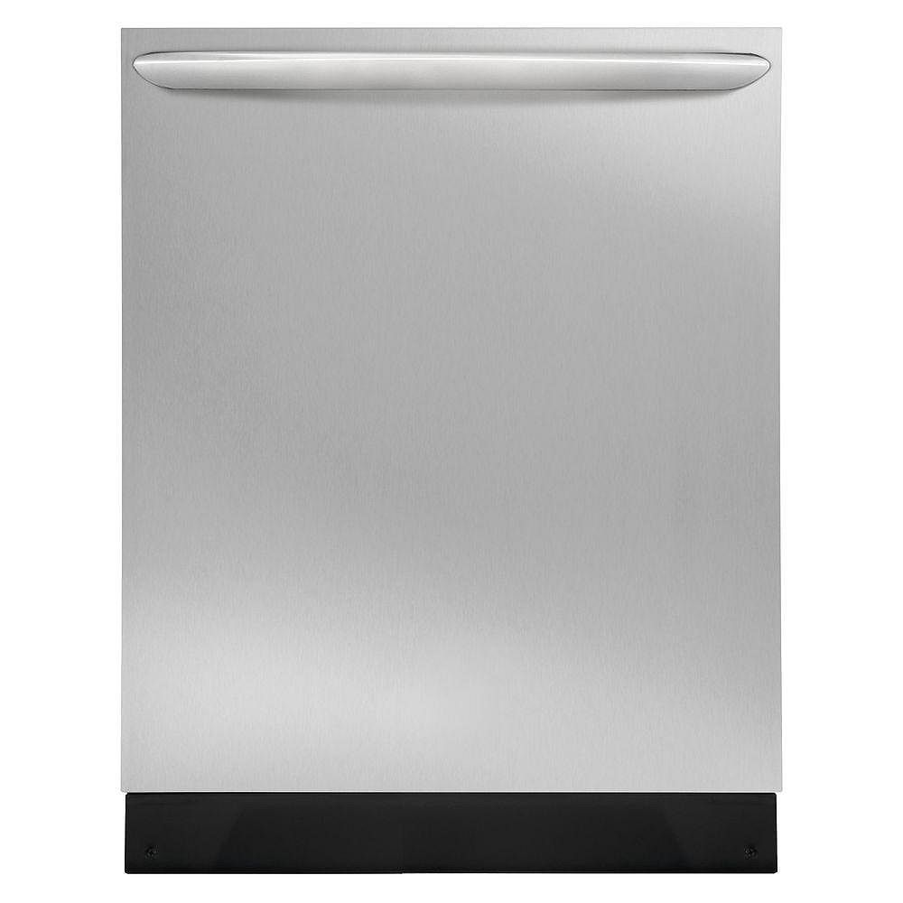 Frigidaire Gallery 24-inch Top Control Built-In Tall Tub Dishwasher in Smudge-Proof Stainless Steel