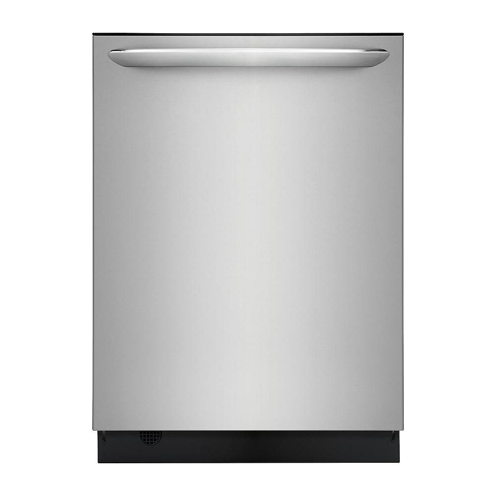 Frigidaire Gallery 24-inch Top Control Built-In Tall Tub Dishwasher in Smudge-Proof Stainless Steel - ENERGY STAR®