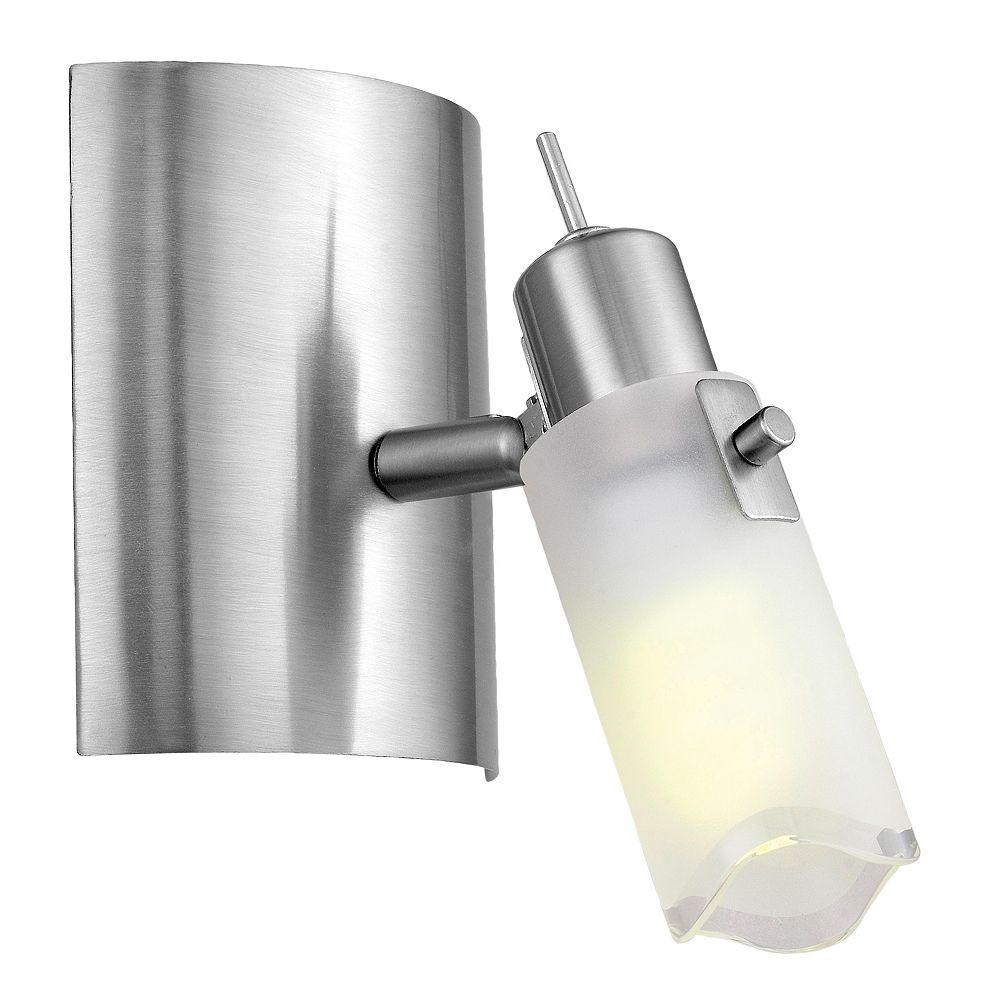 Eglo Danita Wall Light 1L, Matte Nickel Finish with Clear & White Glass