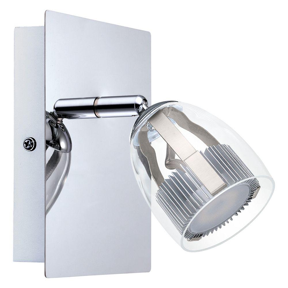 Eglo Pecero LED Wall Light, Chrome Finish with Clear Acrylic