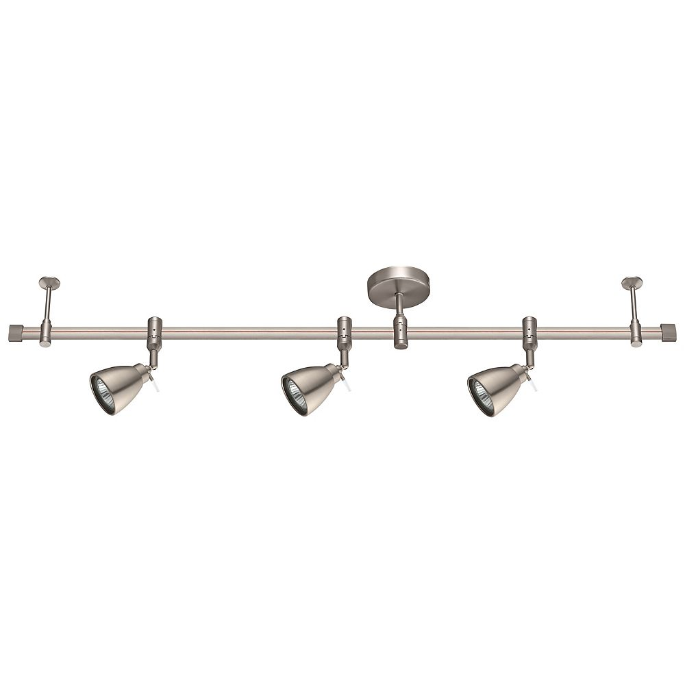 Eglo Ciotti Line Voltage 3L, Track Light, Brushed Nickel Finish