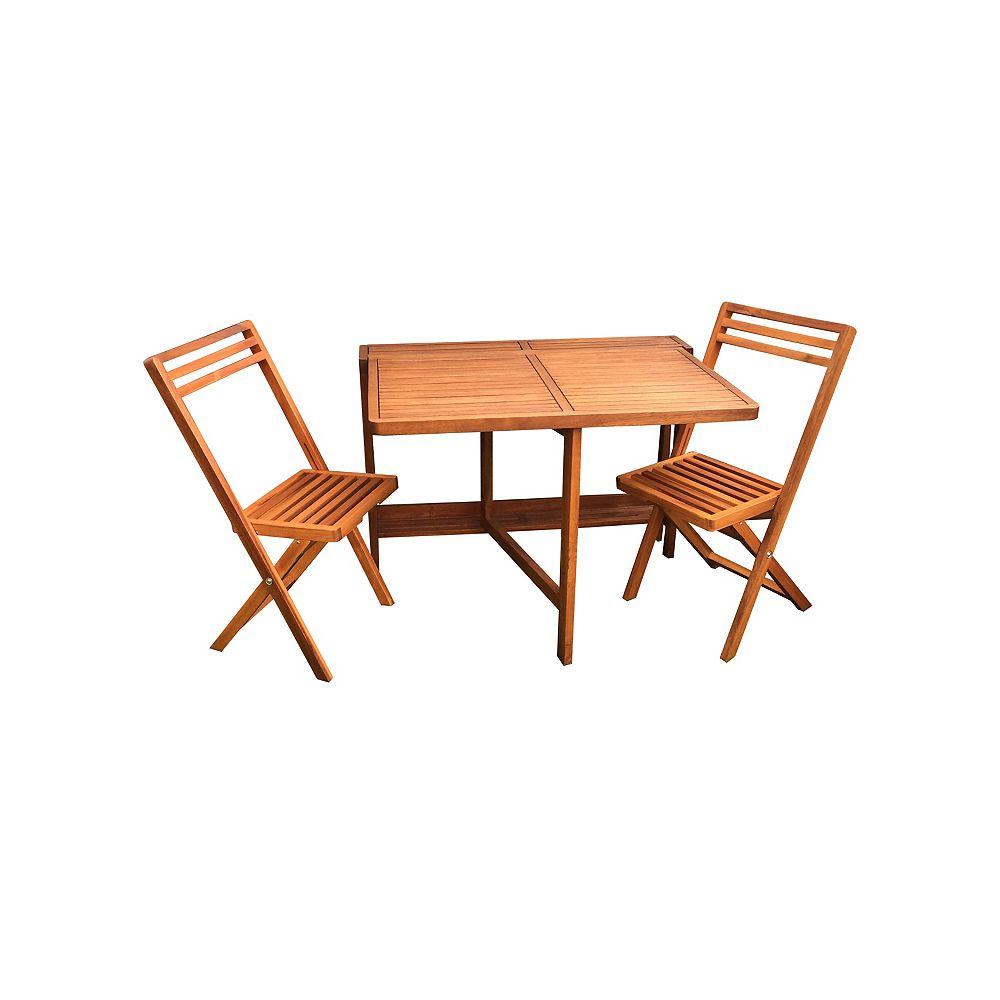 Mur moyen table et deux chaises de balcon de pliage Jeu de 7 pièces