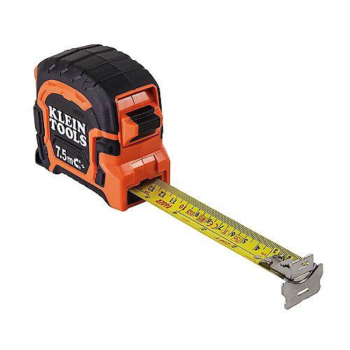 Klein Tools Ruban à mesurer à crochet double aimanté de 7,5m