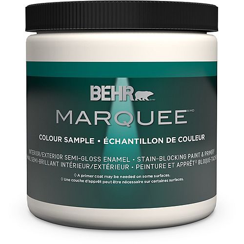 Behr Marquee Marquee 237mL Medium Base Semii-Gloss Interior Paint Sample with Primer