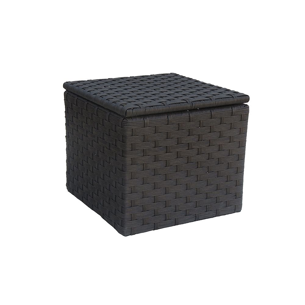 ONSIGHT Hestia Wicker Side Table with Storage