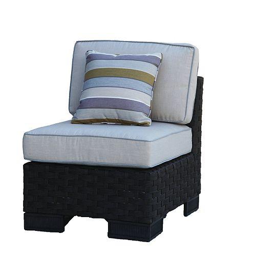 ONSIGHT Hestia Wicker Armless Patio Club Chair