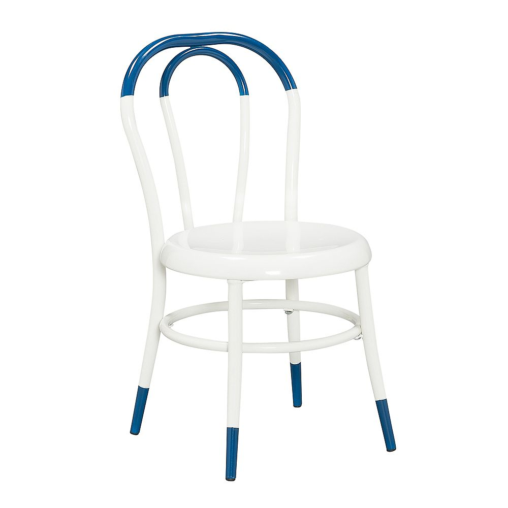 Kids Space Ellie White Kids Bistro Chair in Dipped Indigo