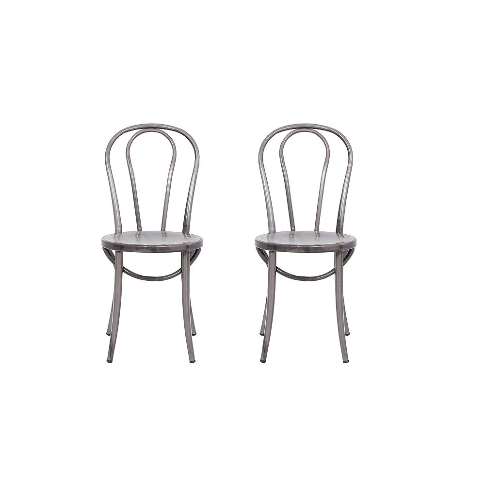 Reservation Seating Elle Metal Natural Armless Bar Stool with Natural Metal Seat