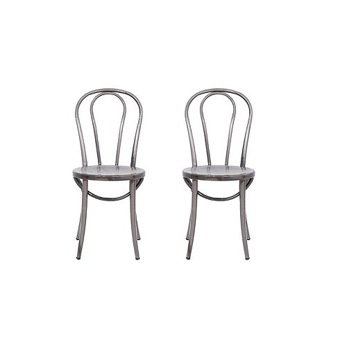 Elle Metal Natural Armless Bar Stool with Natural Metal Seat
