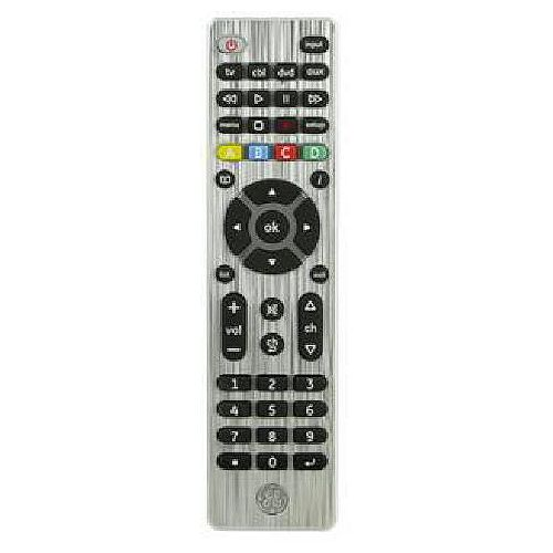 GE 4-Device Universal Remote Control, Silver, English/French