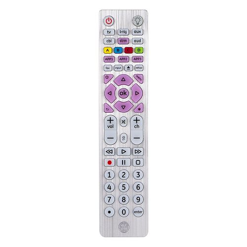 6-Device Universal Remote Control, Brushed Silver, English/French