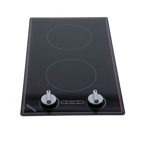 Kenyon Cortez series - round Edge - 2 burner clear black 120V