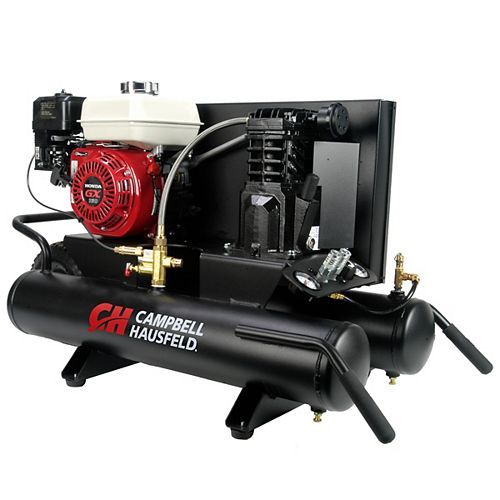 9-Gallon Wheelbarrow Air Compressor, 1-Stage 10.2CFM5.5 HP GX160Honda (CE2000)