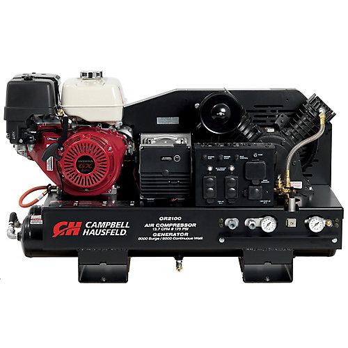Lunité de combinaison Campbell Hausfeld, le compresseur de 38 L (10 gal), le générateur de 5000W