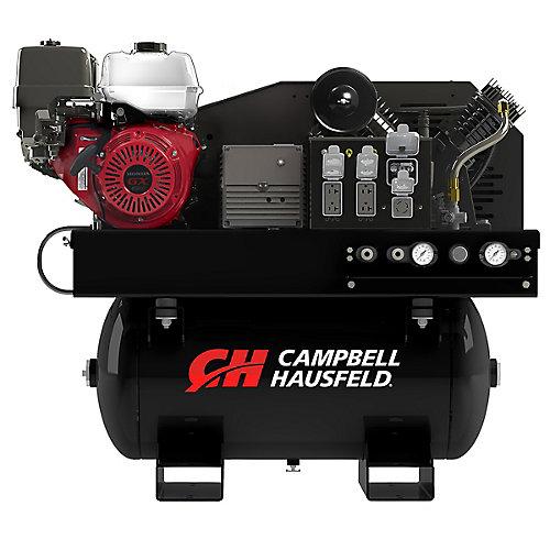 Lunité de combinaison Campbell Hausfeld, le compresseur de 114 L (30 gal), le générateur de 5000W