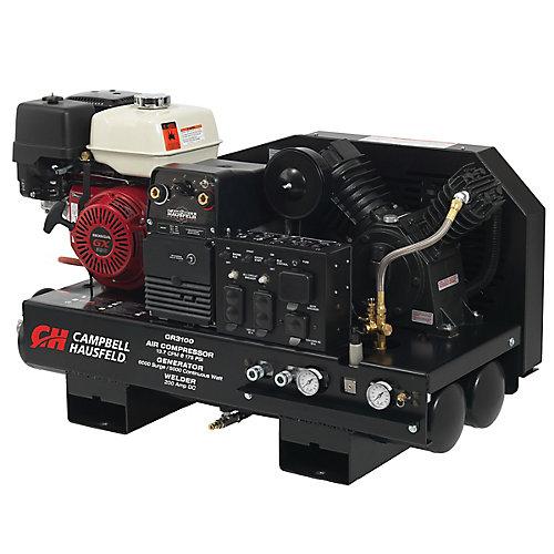 Lunité de combinaison, le compresseur de 38 L, le générateur de 5000W, le soudeur de 180A