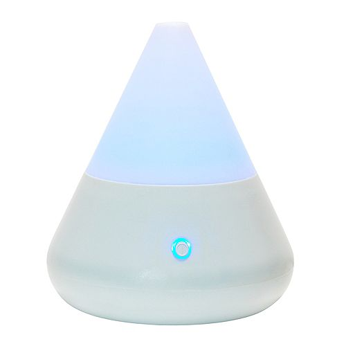 Cone Shaped Ultrasonic Diffuser with 4 LED Light Cycle, 6-Inch by 6.75-Inch
