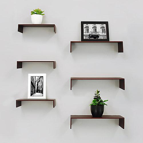 Extense paquet de 6 étagère murale - Expresso