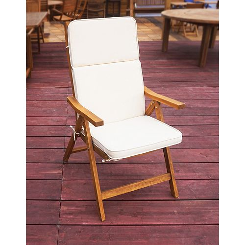 Cushion For 5-Position Folding Chair in White