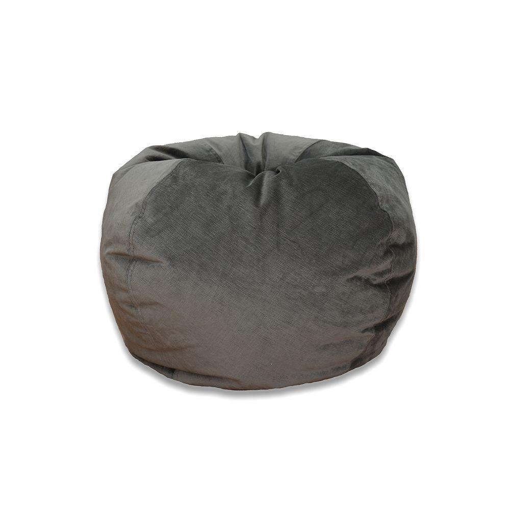 Ace Casual Furniture Grand sac poire de velours texturé