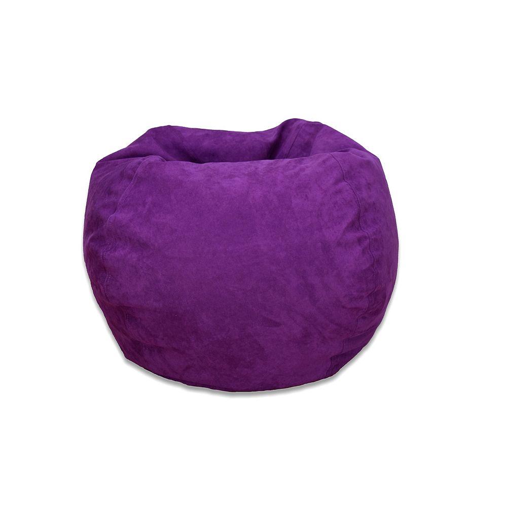 Ace Casual Furniture Grand sac poire en microsuède - mauve