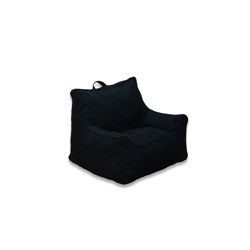Ace Casual Furniture Soft Structure Chair in Black Microsuede