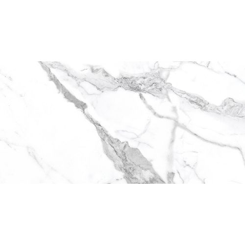 12-inch x 24-inch Statuario HD Polished Porcelain Tile