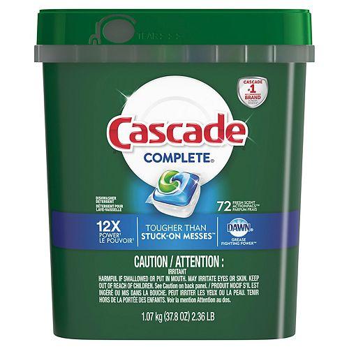 Complete ActionPacs Dishwasher Detergent, Fresh Scent (72-Count)