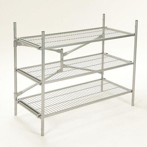 3 Shelf Folding Instant Storage