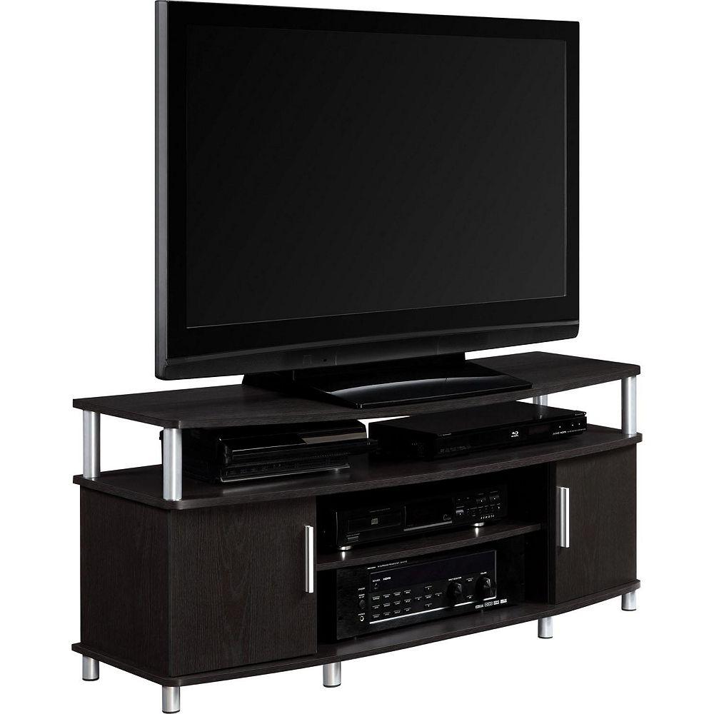 Dorel Carson 50 Inch TV Stand, Espresso/Silver