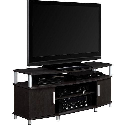 Carson 50 Inch TV Stand, Espresso/Silver