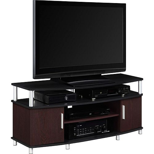 Carson Entertainment Console for 50-inch TVs in Cherry and Black