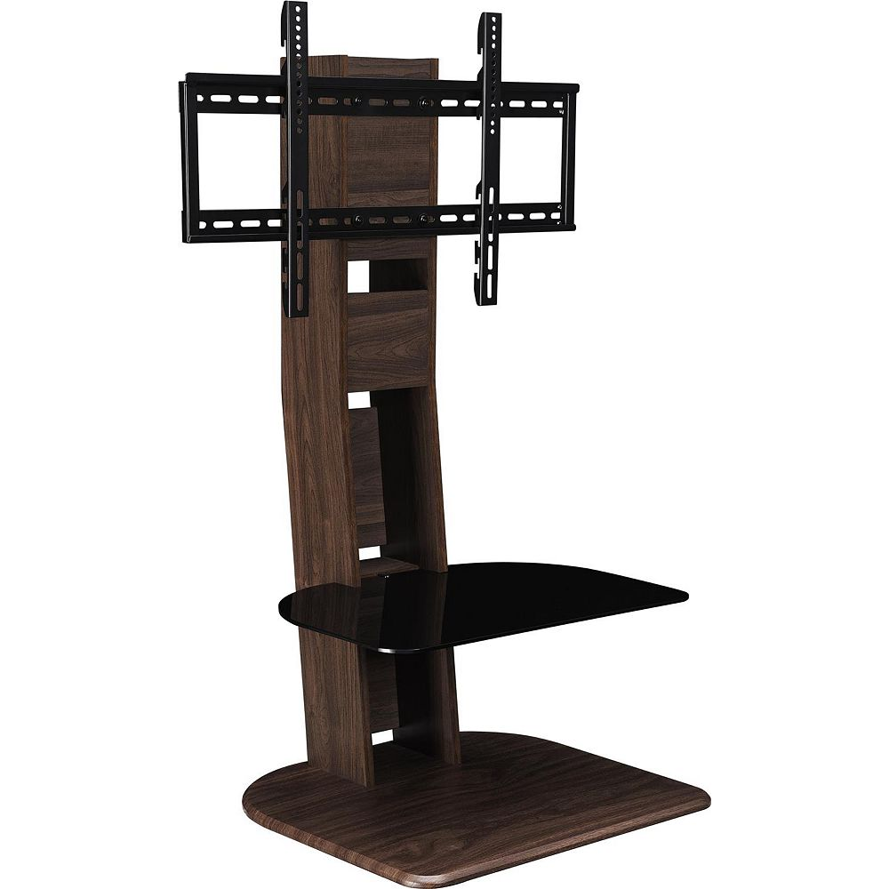 Dorel Galaxy TV Stand for 50-inch TVs with Mount in Walnut