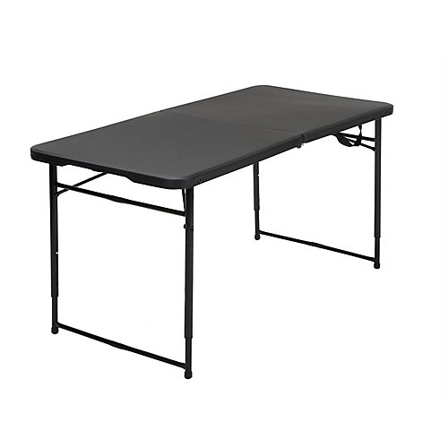 Black Adjustable Folding Outdoor Table