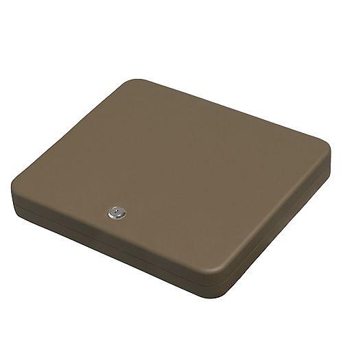 Large Portable Security Case, Key Lock, Sand
