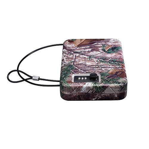 Portable Security Case, Combo Lock, Real Tree Camo