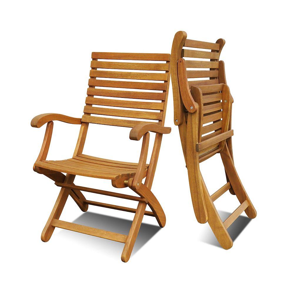 INTERBUILD CASINO Folding Patio Chairs (Set of 2) | The ...