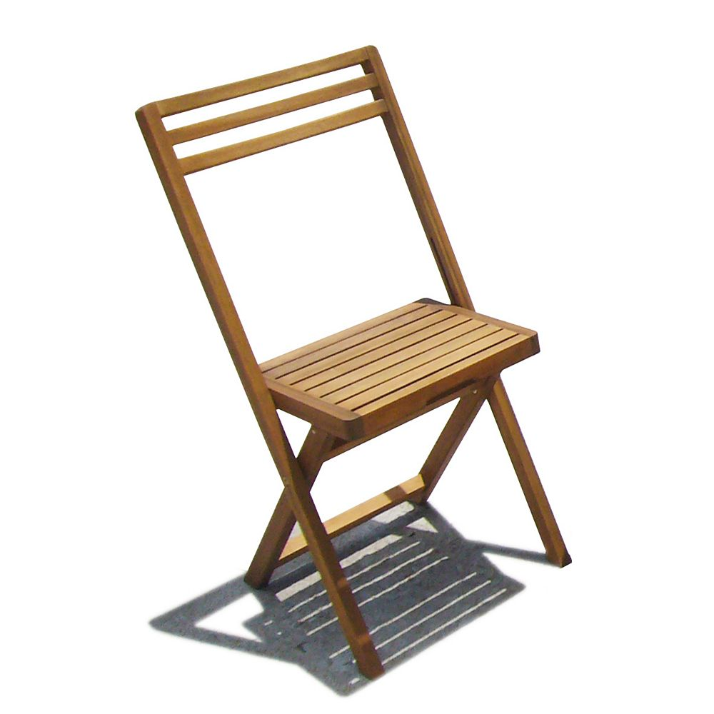 INTERBUILD SLAT Large Patio Folding Chair (Set of 2)