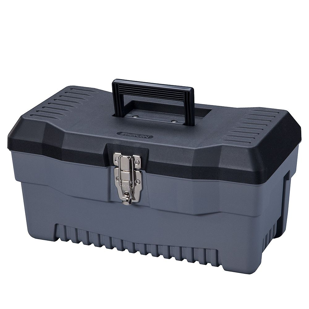 Stack On 16-Inch Professional Tool Box in Black