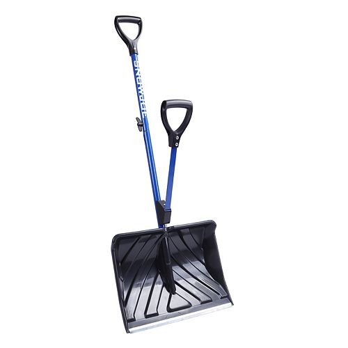 Pelle à neige anti-mal de dos Shovelution Snow Joe à manche à mécanisme à ressort