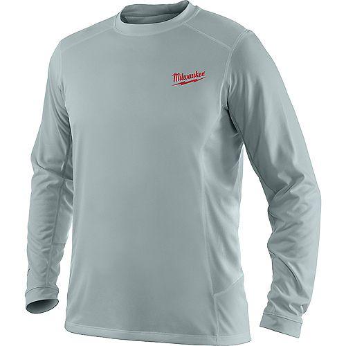 WORKSKIN Men's Large Gray Light Weight Performance Long Sleeve Shirt
